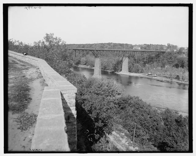 [The Bridge from east parapet, Fort Snelling, Minn.]