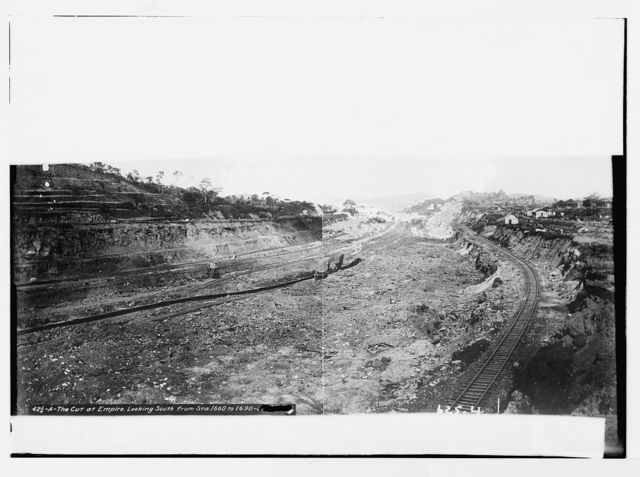 The cut at Empire, canal excavations, Panama