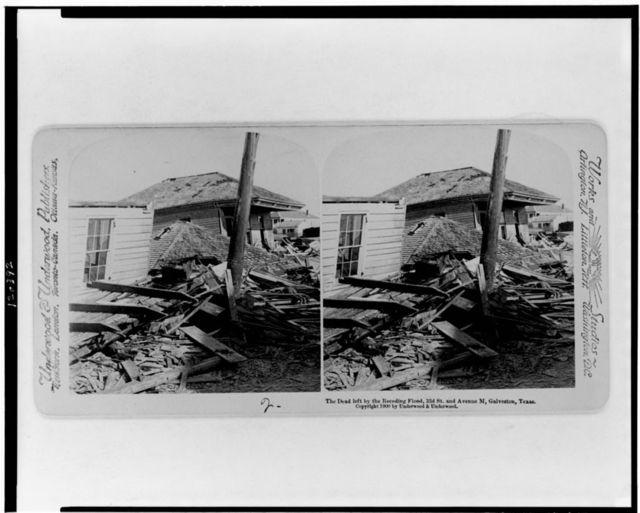 The dead left by the receding flood, 33d St. and Avenue M, Galveston, Texas