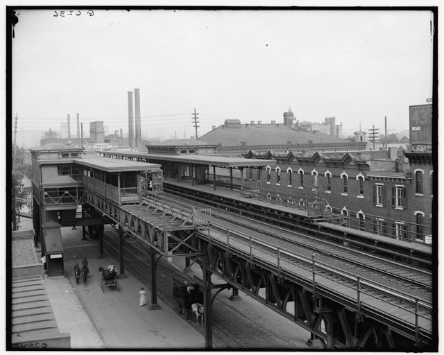 [The Elevated station at Thirty-sixth Street, Philadelphia, Pa.]