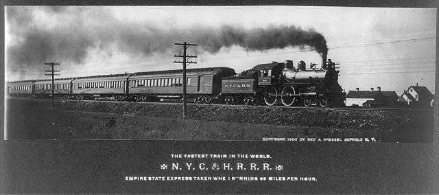 The fastest train in the world. N. Y. C. & H. R. R. R. Empire State Express taken wh[en] [ru]nning 66 miles per hour.
