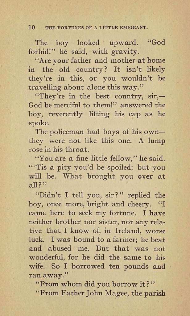 The fortunes of a little emigrant,