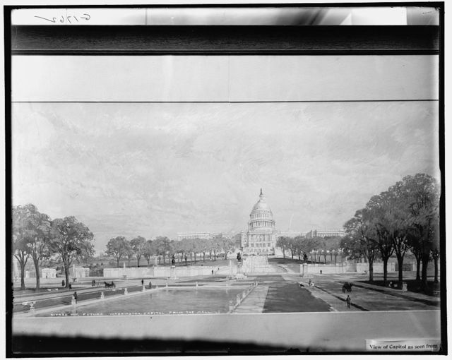 The Future Washington, [United States] Capitol from the Mall