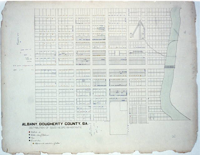[The Georgia Negro] Albany, Dougherty County, Ga. Distribution of 2,500 Negro inhabitants.