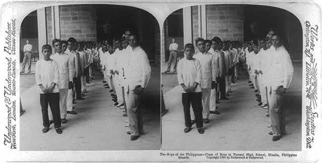 The hope of the Philippines - class of boys in Normal High School, Manila, Philippine Islands