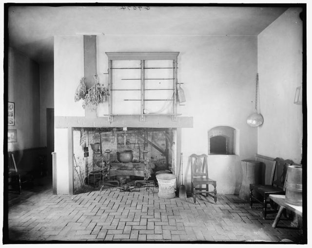 [The Old kitchen fireplace, Mt. Vernon, Va.]