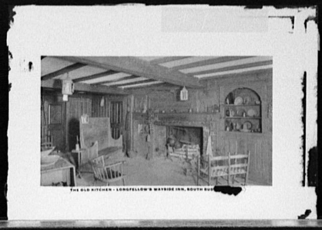 The Old kitchen, Longfellow's Wayside Inn, South Sudbury, Mass.
