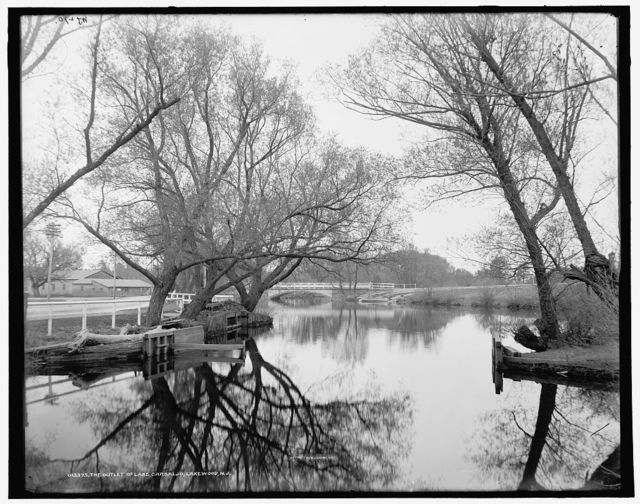 The outlet of Lake Carsaljo [sic], Lakewood, N.J.