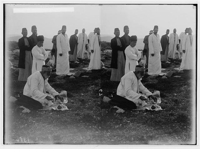 The Samaritan Passover on Mt. Gerizim. Breakfast on the mountain.