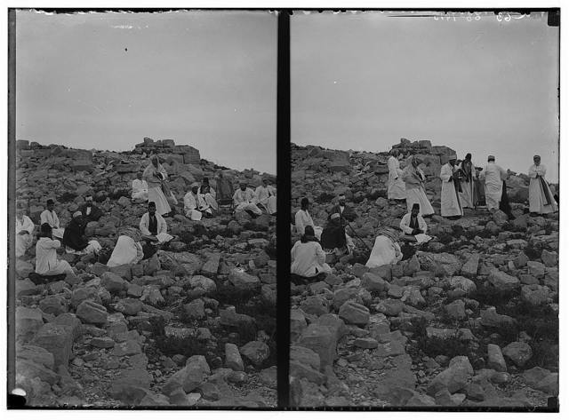 The Samaritan Passover on Mt. Gerizim. Early morning prayer after the sacrifice.