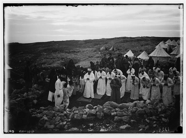 The Samaritan Passover on Mt. Gerizim. Evening prayer.