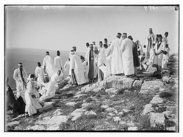 The Samaritan Passover on Mt. Gerizim. On the way to Abraham's altar.