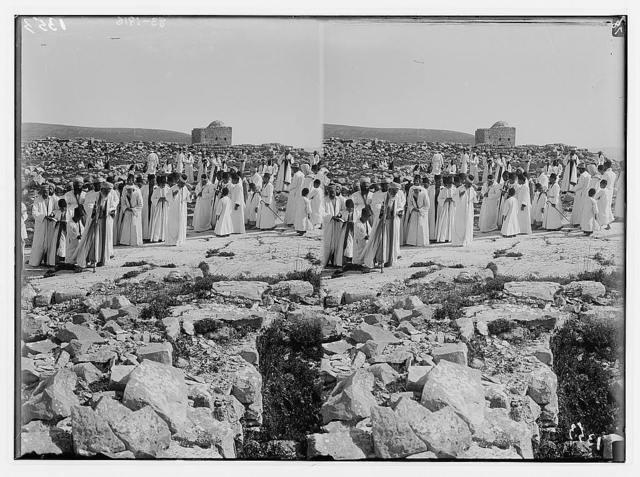 "The Samaritan Passover on Mt. Gerizim. Pilgrimage on the ""Rock Moriah""."
