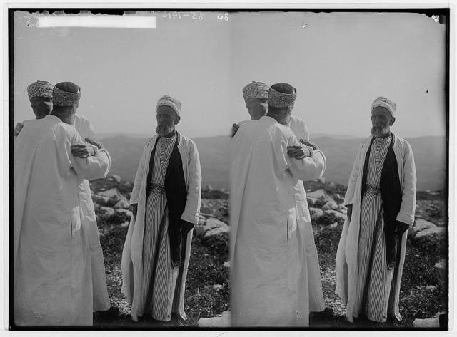 The Samaritan Passover on Mt. Gerizim. Salutation near view.