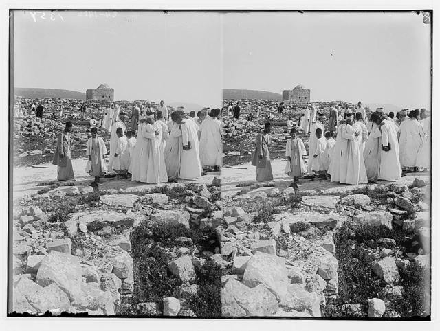 The Samaritan Passover on Mt. Gerizim. Salutations after the ceremony.