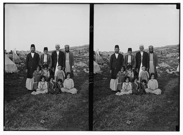 The Samaritans of Nablus (Shechhem). Samaritans and their intended--little girls.