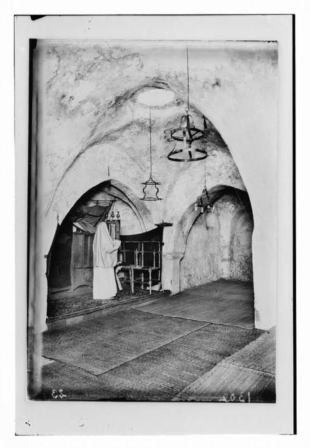The Samaritans of Nablus (Shechhem). The Samaritan synagogue