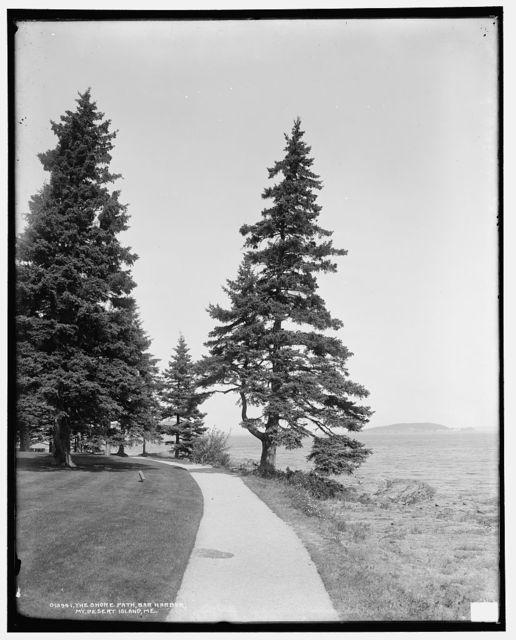 The Shore path, Bar Harbor, Mt. [i.e. Mount] Desert Island, Me.