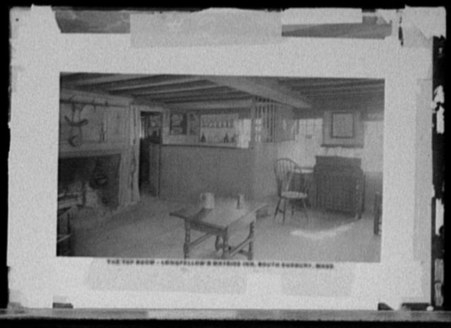 The Tap room, Longfellow's Wayside Inn, South Sudbury, Mass.