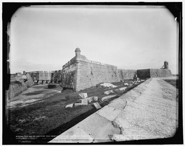 The Water battery and bastion of Fort Marion, St. Augustine