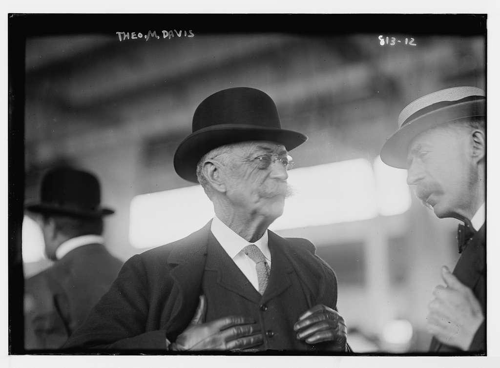 Theo. M. Davis, with unidentified gentleman