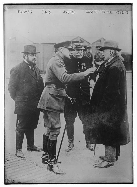 Thomas, Haig, Joffre, Lloyd George