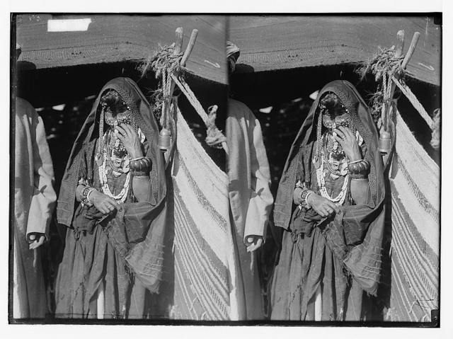To Sinai via the Red Sea, Tor, and Wady Hebran. Bedouin woman with all her finery.
