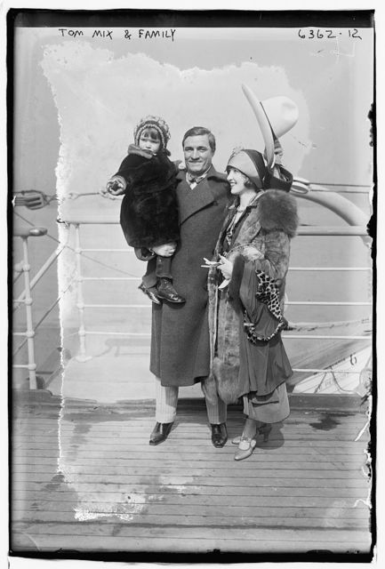 Tom Mix and family