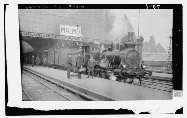 [Train at station. Malmo, Sweden]