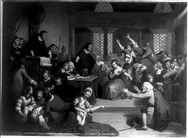 Trial of George Jacobs of Salem for witchcraft, Essex Institute, Salem, Mass.