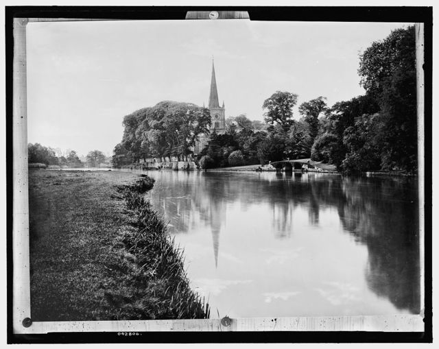 [Trinity Church by river, Stratford-on-Avon]