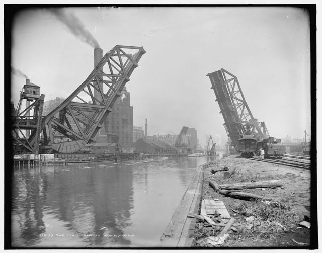 Twelfth St. Vascule [i.e. Bascule] Bridge, Chicago