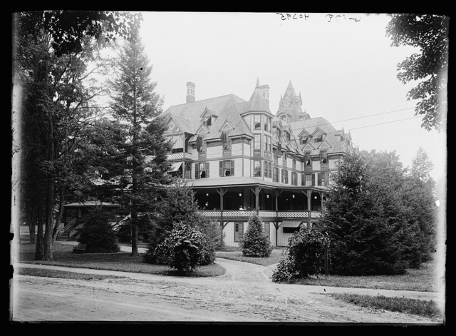 [Unidentified building, probably a resort hotel]