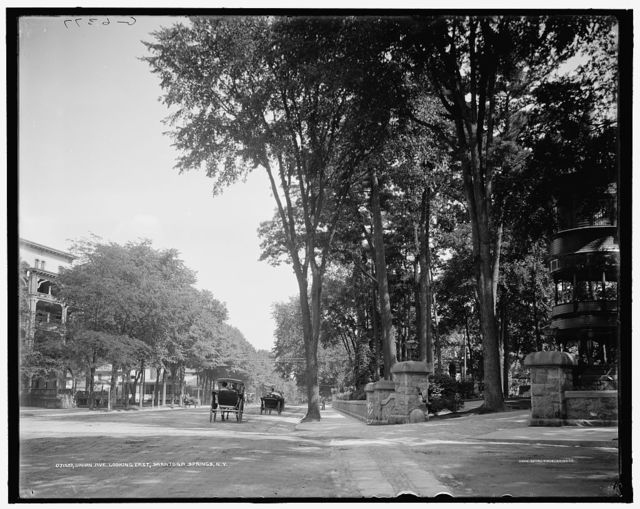 Union Ave., looking east, Saratoga Springs, N.Y.