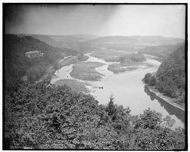 [Up the Delaware from Prospect Rock, Delaware Water Gap, Pa.]