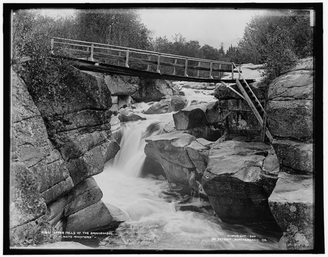 Upper falls of the Ammonoosuc, White Mountains