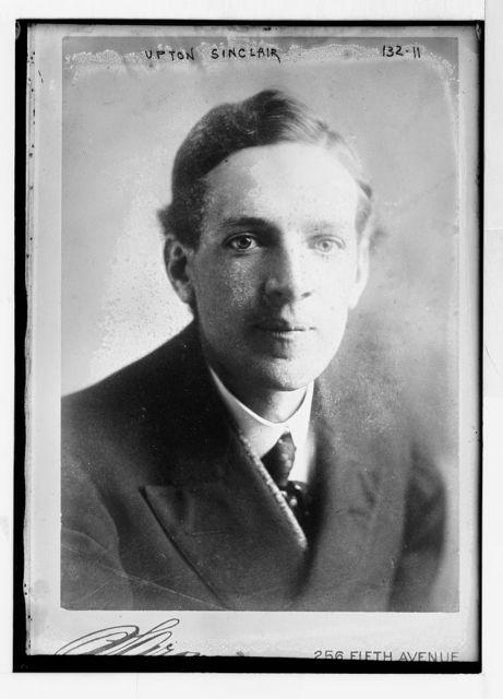 Upton Sinclair, portrait bust, studio at 56 Fifth Ave., N.Y.