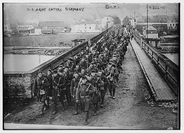 U.S. Army enters Germany