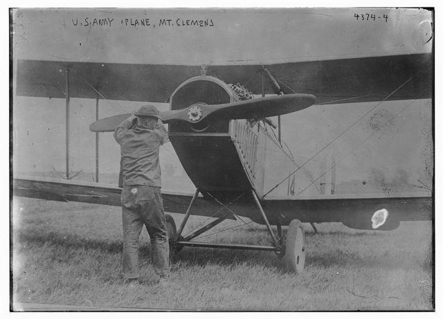 U.S. Army plane, Mt. Clemens