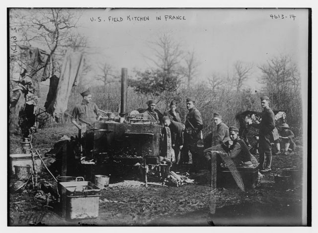 U.S. field kitchen in France
