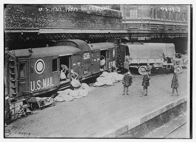 U.S. mail -- Paris to Coblenz