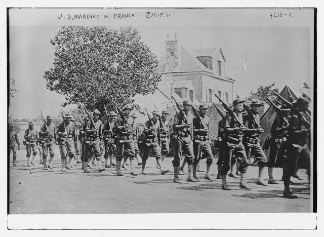 U.S. marines in France