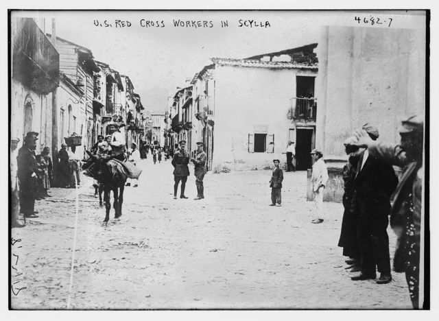 U.S. Red Cross workers in Scylla