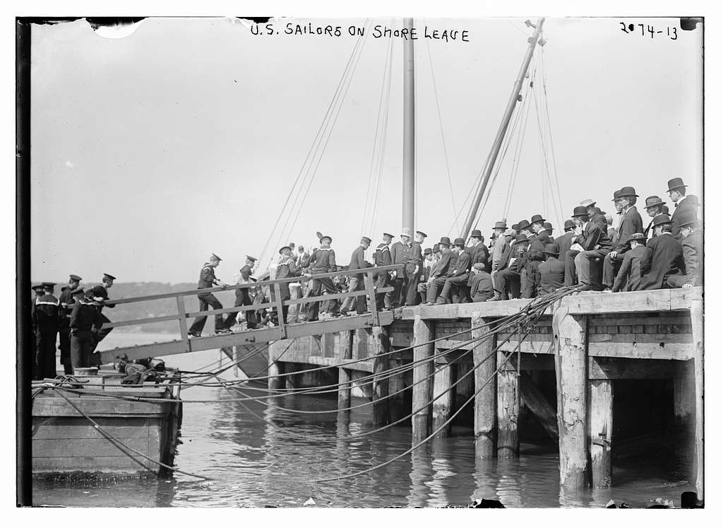 US Sailors on shore leave
