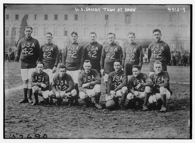 U.S. soccer team at Bonn