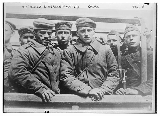 U.S. soldiers & German prisoners