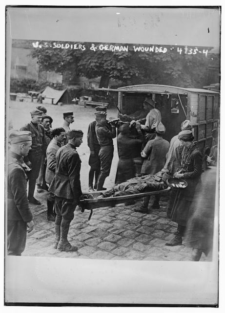 U.S. soldiers & German wounded