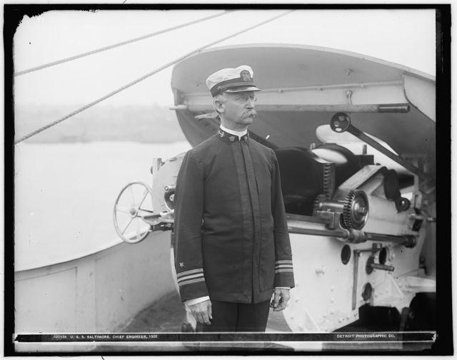 U.S.S. Baltimore, chief engineer