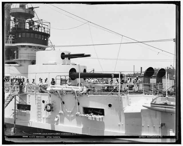 U.S.S. Kentucky, after turrets