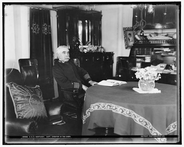 U.S.S. Kentucky, Capt. Chester in his cabin